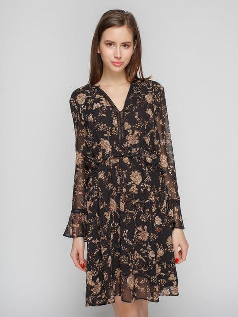Сукня чорна в принт Mango 4789403