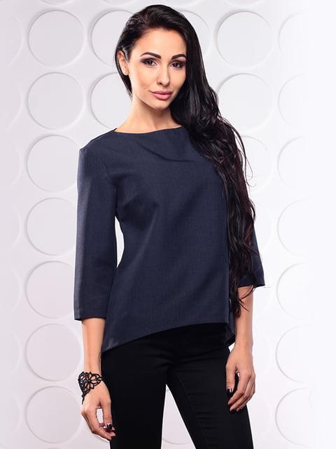 Блуза черно-синяя Dioni 4619763