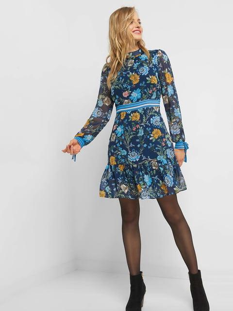 Платье синее в цветочный принт Orsay 4836708