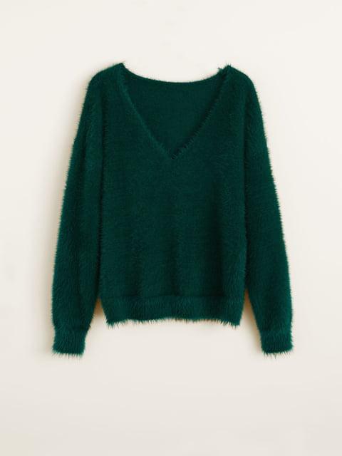 Пуловер зеленый Mango 4575538