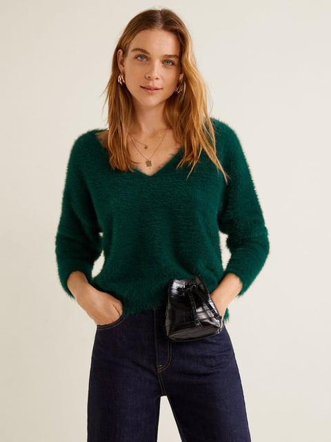 Пуловер зелений Mango 4575538