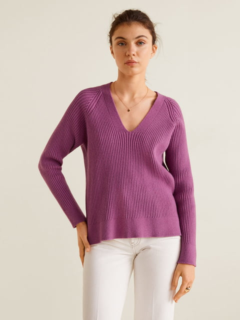 Пуловер лілового кольору Mango 4599232