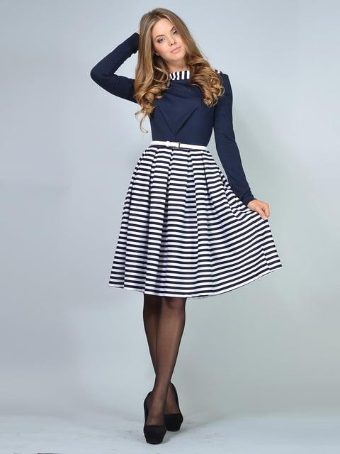 Платье темно-синее в полоску LILA KASS 4866165