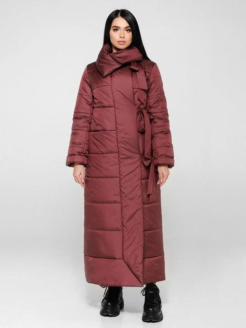 Пальто темно-красное Favoritti 4828111