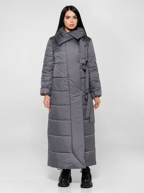 Пальто темно-сіре Favoritti 4828112
