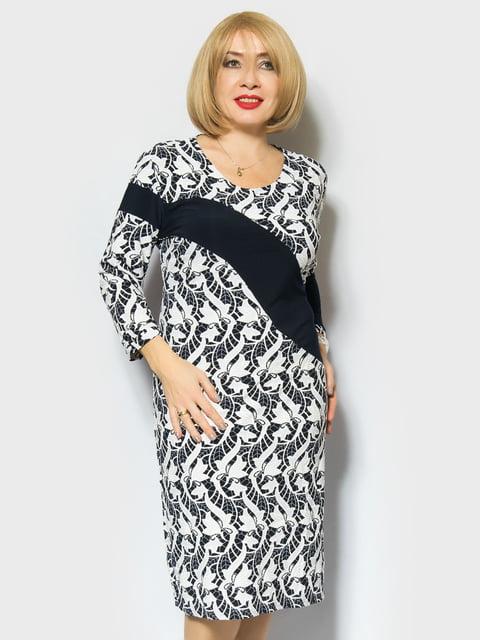 Сукня двоколірна з принтом LibeAmore 4866698