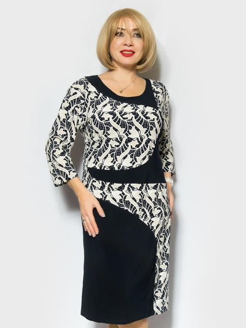 Сукня двоколірна з принтом LibeAmore 4866699