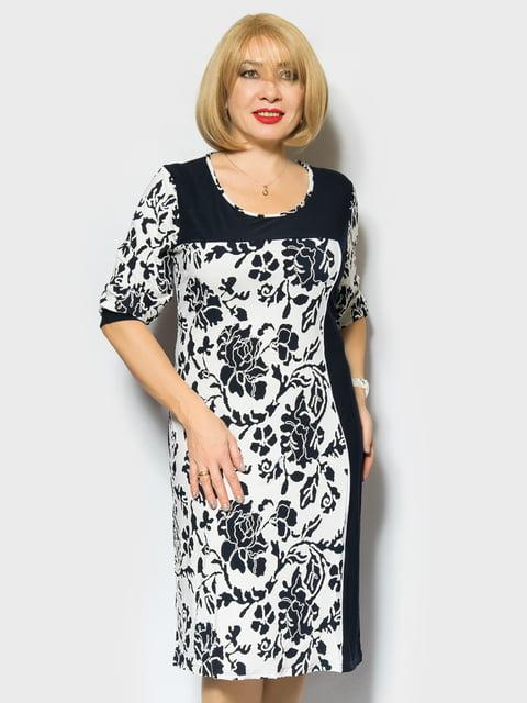 Платье двухцветное с цветочным принтом LibeAmore 4866711