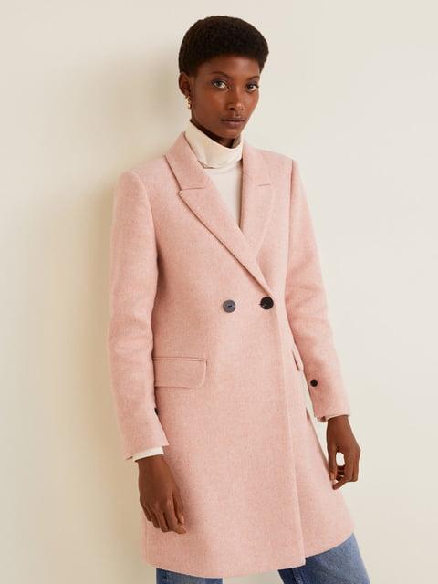 Пальто рожеве Mango 4861078
