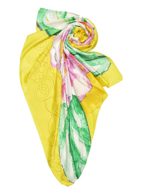 Платок желтый с принтом Fashion Look 4868255
