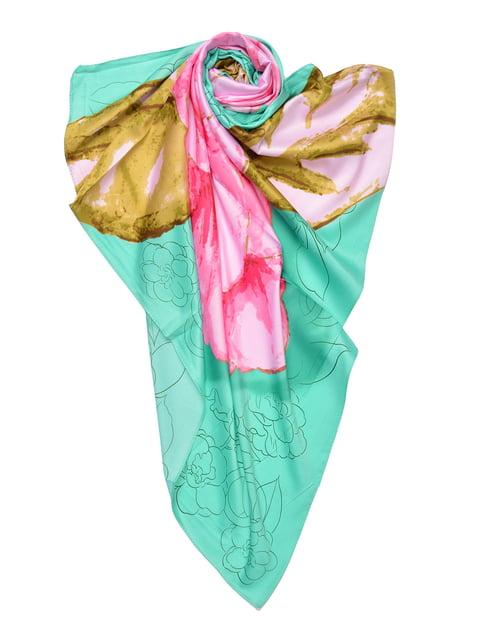 Платок мятного цвета с принтом Fashion Look 4868257