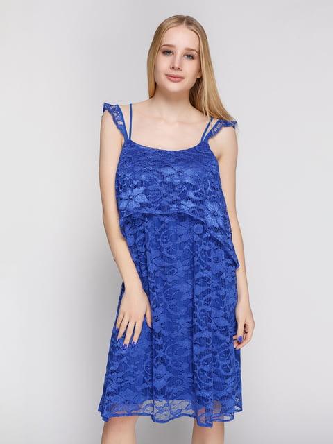 Сукня кольору електрик Mango 4789462