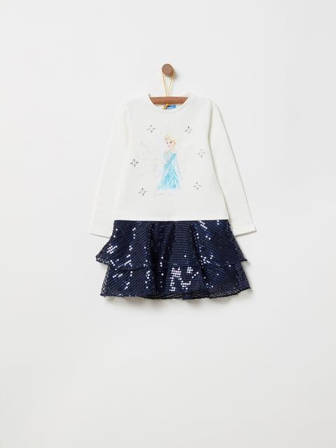 Сукня двоколірна з принтом Oviesse 4876525