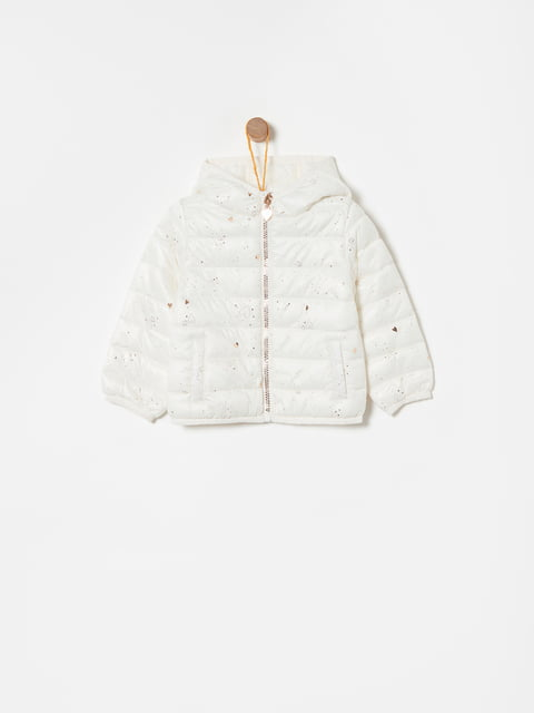 Куртка біла в принт Oviesse 4876549