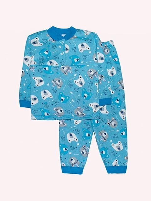 Піжама з начосом: лонгслів і штани Малыш 4879896