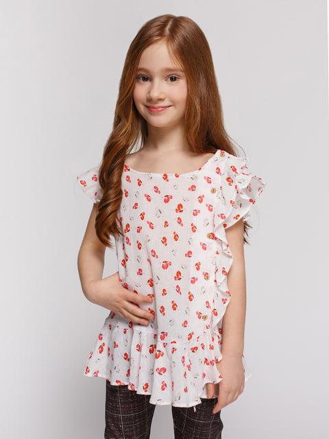Сукня молочного кольору в принт Zara Kids 4506463