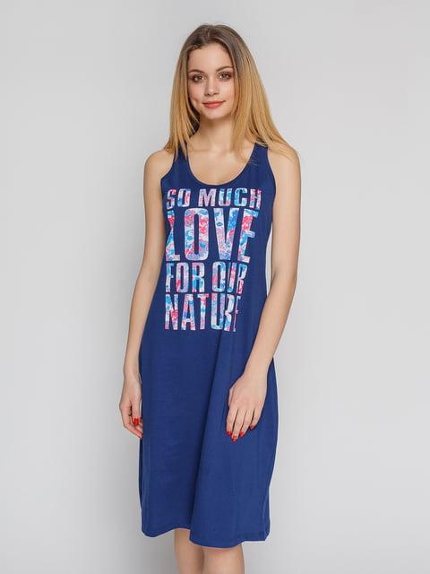 Сукня синя з принтом Arber 4855314