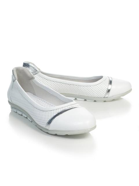 Балетки білі NUBE 4879409
