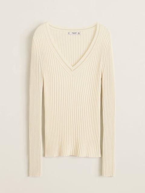 Пуловер молочного цвета Mango 4885571