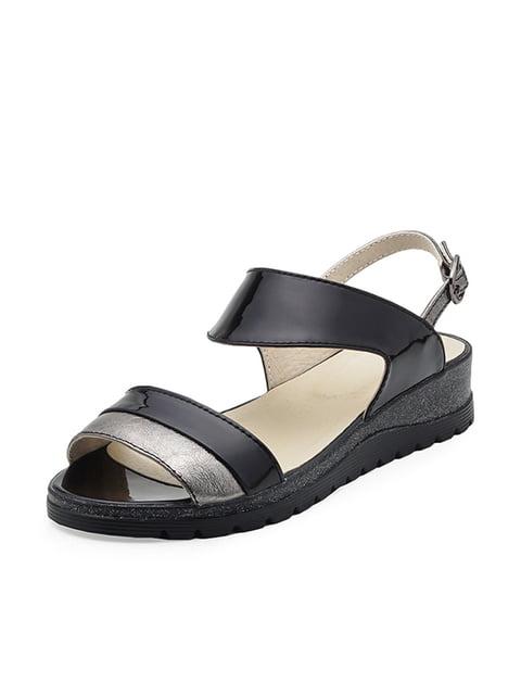 Сандалии черно-серебристые Tops 4885512