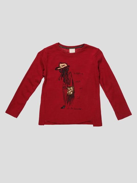 Лонгслив бордовый с принтом Zara Kids 2777790