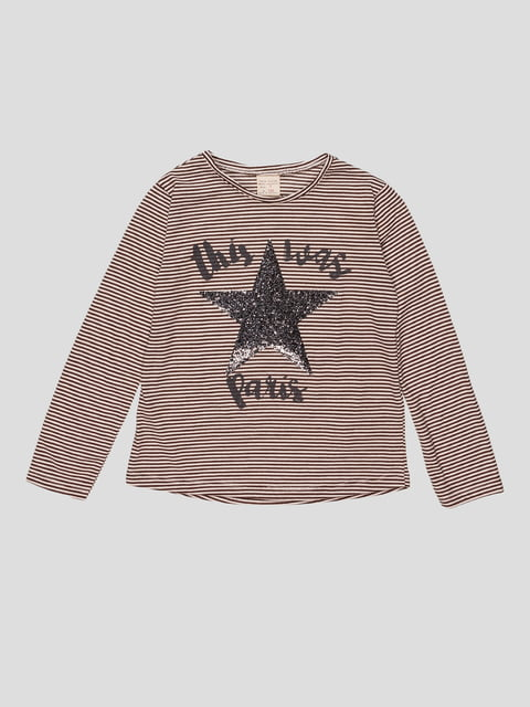 Лонгслів смугастий у принт Zara Kids 2777405