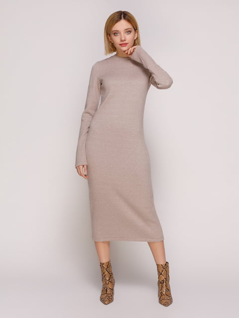 Сукня темно-бежева MarieM 4877455