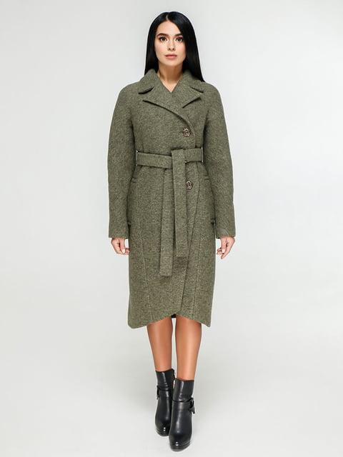 Пальто цвета хаки Favoritti 4886141