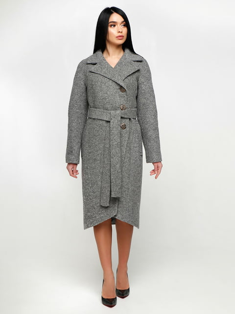 Пальто серое Favoritti 4886143