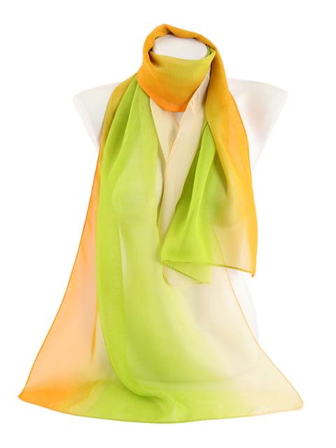 Шарф зелено-помаранчевий Traum 4886230