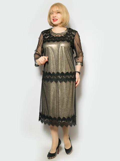Сукня золотистого кольору LibeAmore 4887321