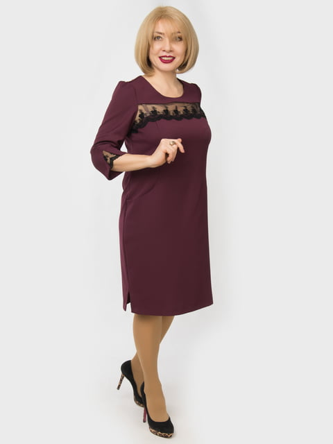 Платье цвета марсала LibeAmore 4888880