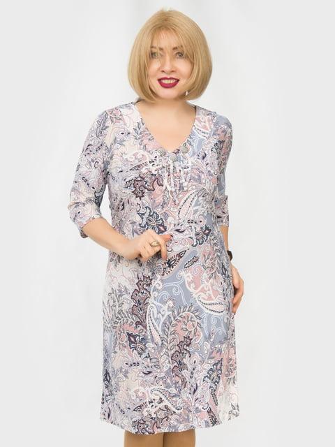 Платье розовое в принт LibeAmore 4888924