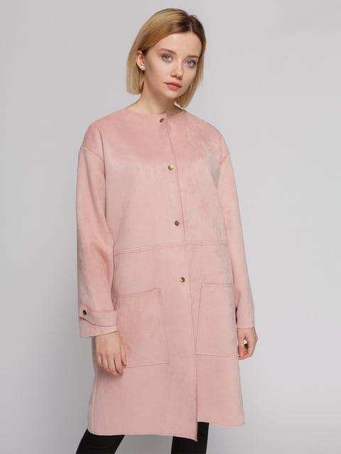 Пальто рожеве Zara 4874429