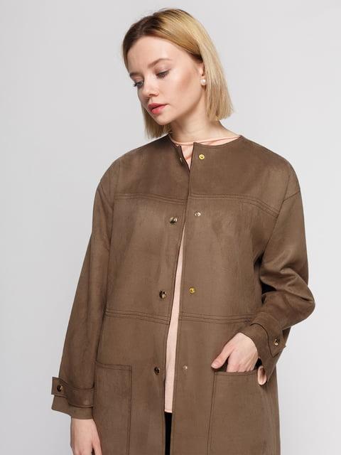 Пальто коричневое Zara 4875227