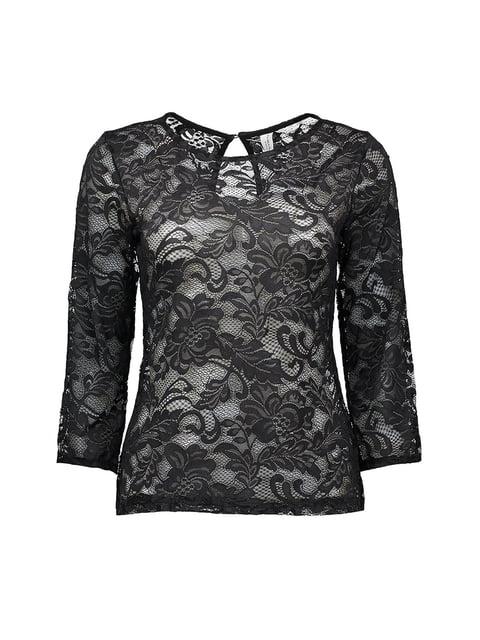 Блуза черная Piazza Italia 4879416