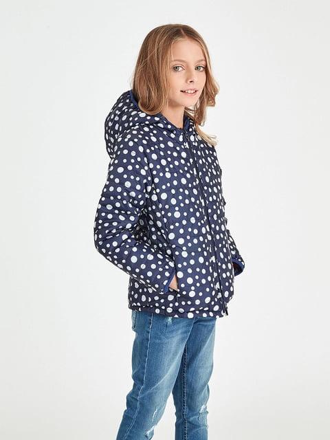 Куртка синя в горошок Piazza Italia 4879552