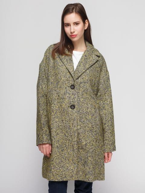 Пальто черно-желтое Zara 4875829