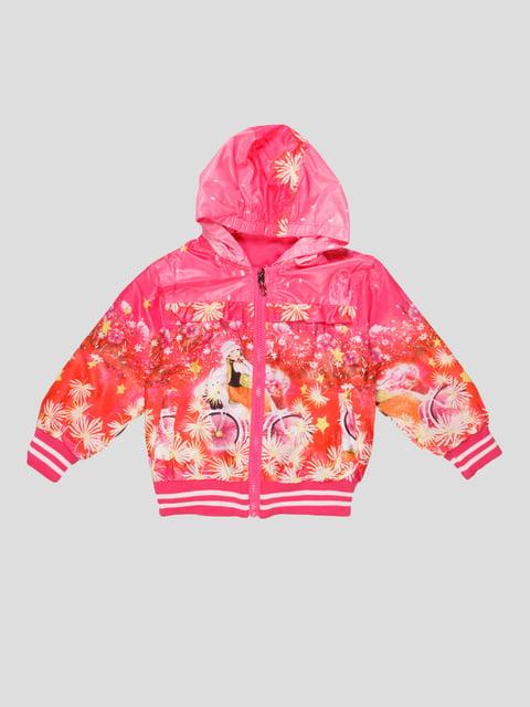 Ветровка розовая с принтом Crossfire 4884947