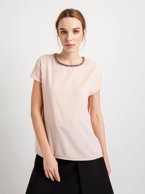 Блуза нюдового кольору BGN 4891271