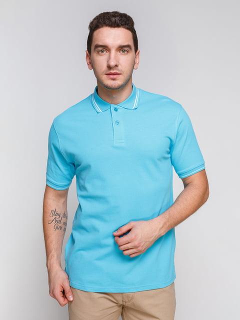 Футболка-поло блакитна Arber 4854925