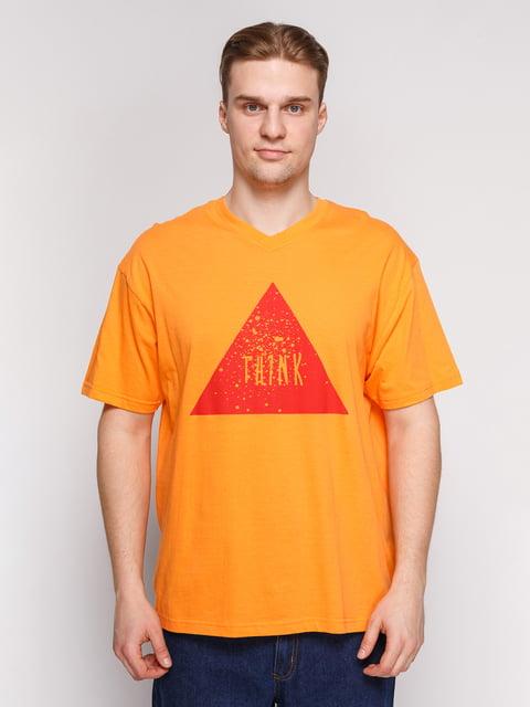Футболка помаранчева з принтом Arber 4854878