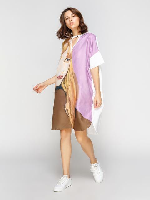 Платье в принт Zara 4874676