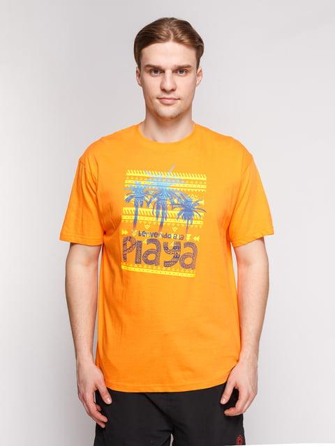 Футболка помаранчева з принтом Arber 4854960