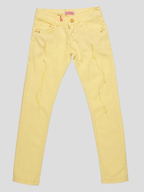 Брюки желтые Keyiqi 4890769