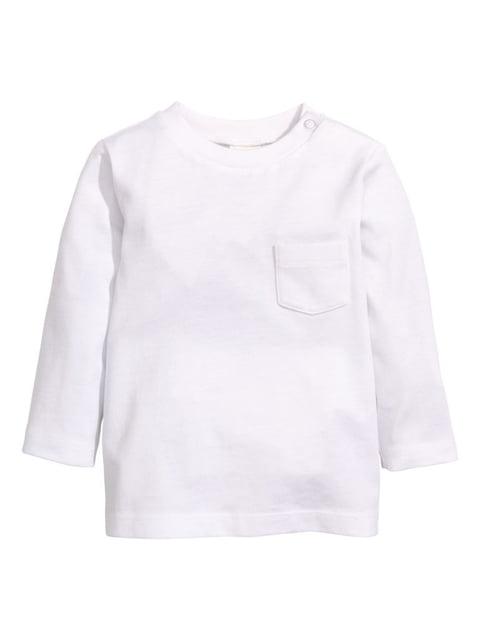 Лонгслів білий H&M 4894979