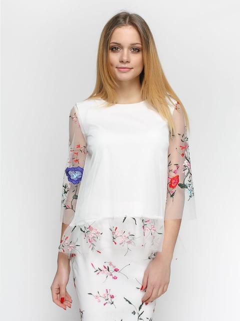 Блуза молочного кольору Zubrytskaya 4891456