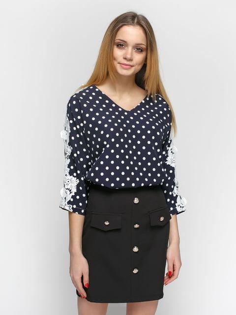 Блуза синяя в горошек Zubrytskaya 4891463