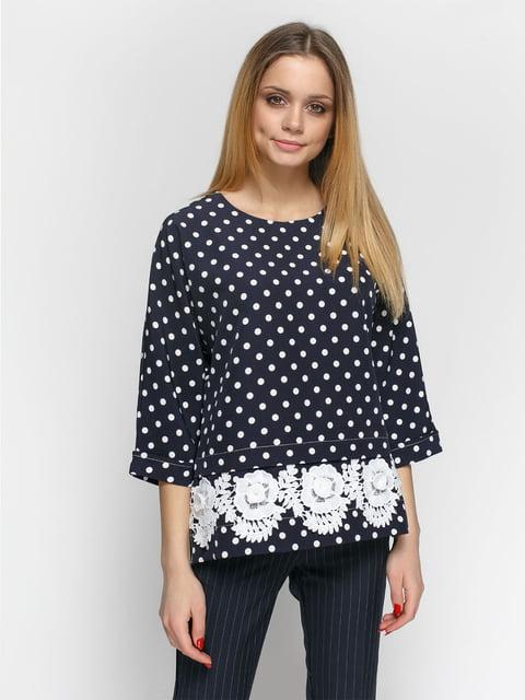 Блуза синяя в горошек Zubrytskaya 4891464