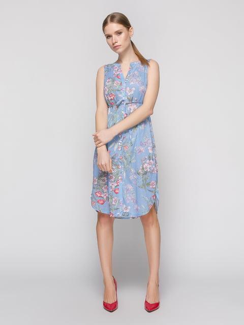 Сукня блакитна в квітковий принт H&M 4872466